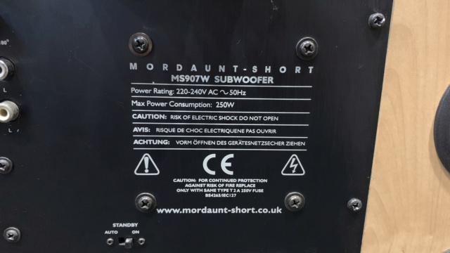 Mordaunt Short MS907W Active Subwoofer (Used) Img_4013