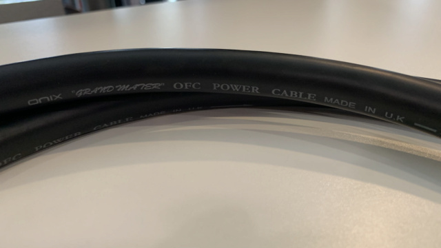 Onix Grand Master OFC Power Cable 1.5m (Used) Img_4030