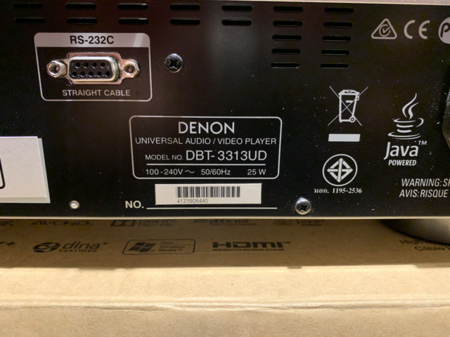 Denon DBT-3313 Universal Blu-ray Player with box full set (Used) Img_7521