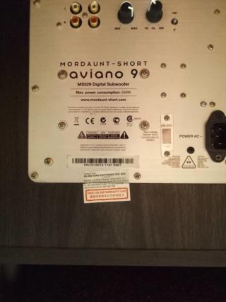 Mordaunt Short AVIANO 9 SUBWOOFER(USED) Photo-23