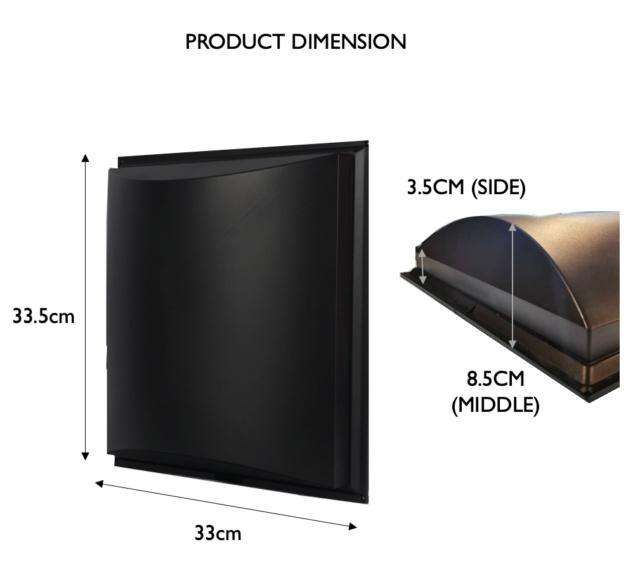 CAV Acoustic ABS Semi-D Sound Insulation 1pcs (New) Screen48