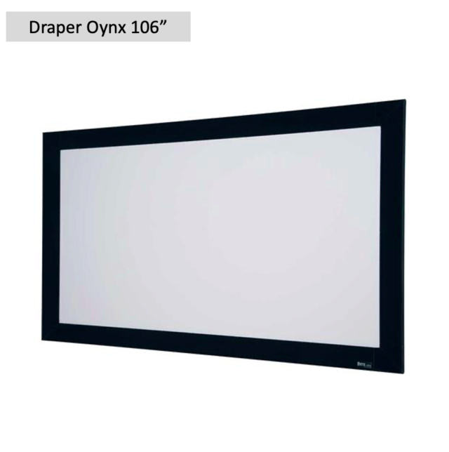 "Draper Oynx 106"" Fixed Frame Projection Screen (Used) Screen69"
