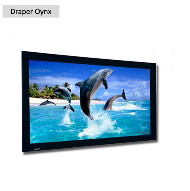 "Draper Oynx 106"" Fixed Frame Projection Screen (Used) Screen72"