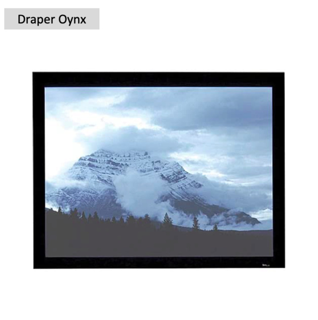 """Draper Oynx 120"""" Fixed Frame Projection Screen (Used) Screen76"""