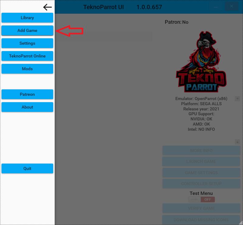Senjin Aleste - Lancer le jeu sur PC avec TeknoParrot Tek_110