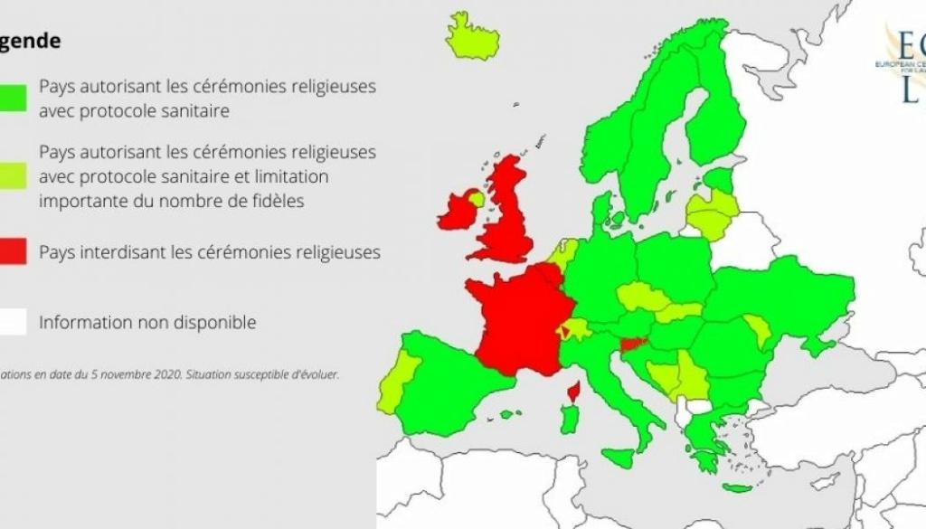 référé pour la liberté de culte : reconfinement et suppression de la liberté d'acces à la messe  Carte_11