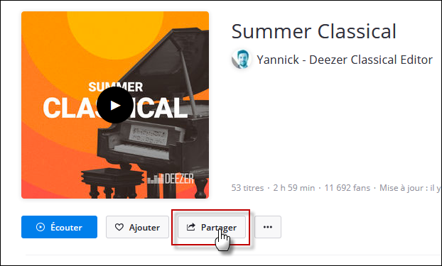 Installer de la musique sur son forum avec Deezer Playls10