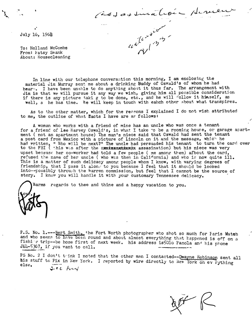 Did Oswald deny living at 1026 N Beckley?  - Page 8 073fef10