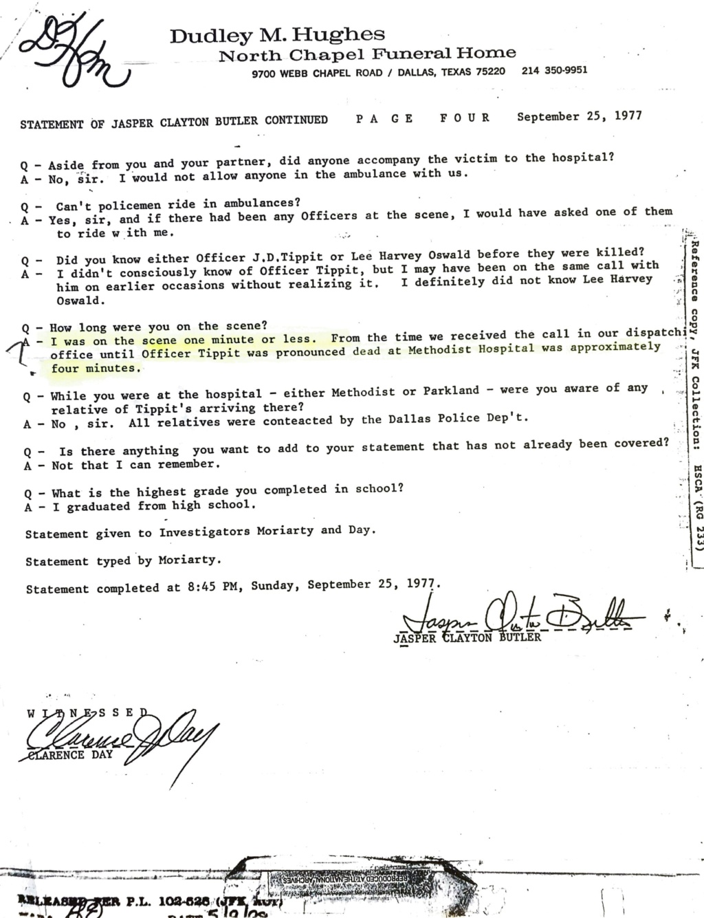 Tippit Murder - who what why and when. - Page 2 2370db10