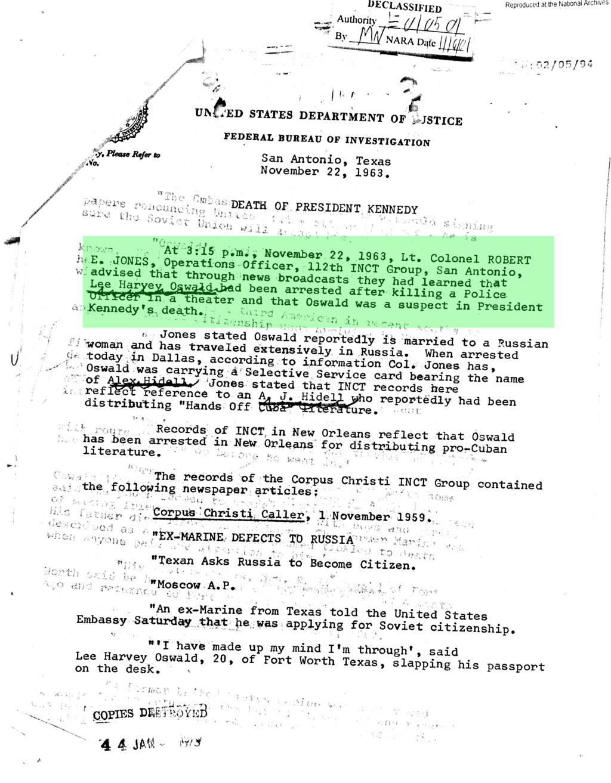 Texas Police Had Oswald Dossier 5ddc1f10