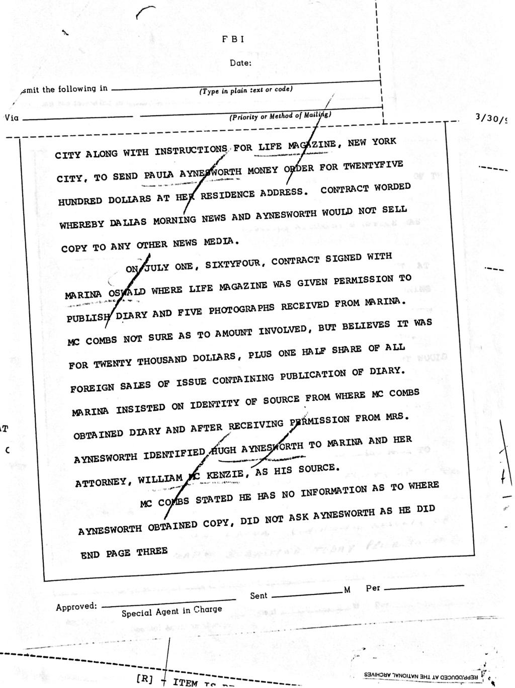 Hugh Aynesworth offered to snitch on William Walter for the FBI 81c0af10