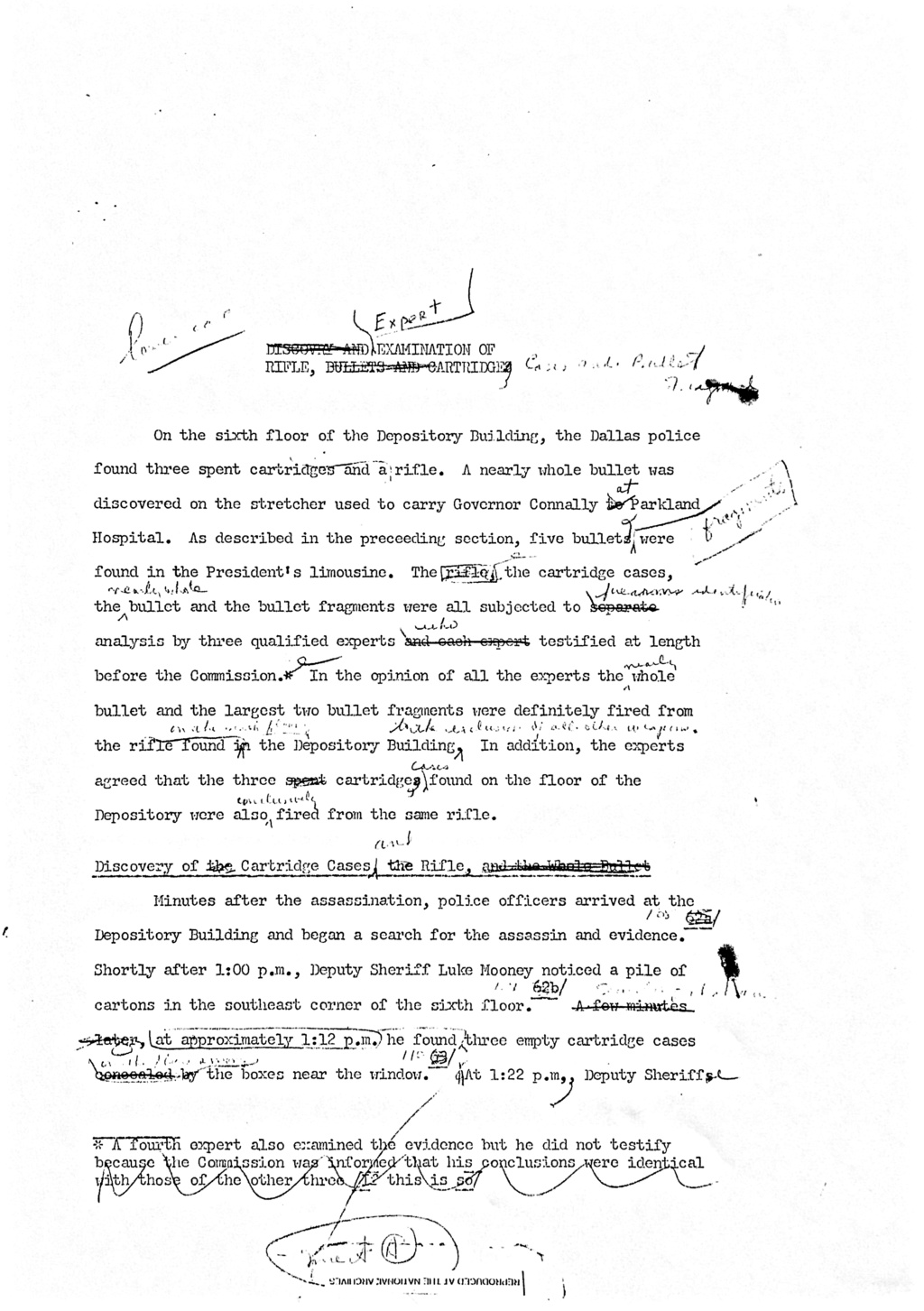 Warren Commission Documents Edits and Proofing C8657811