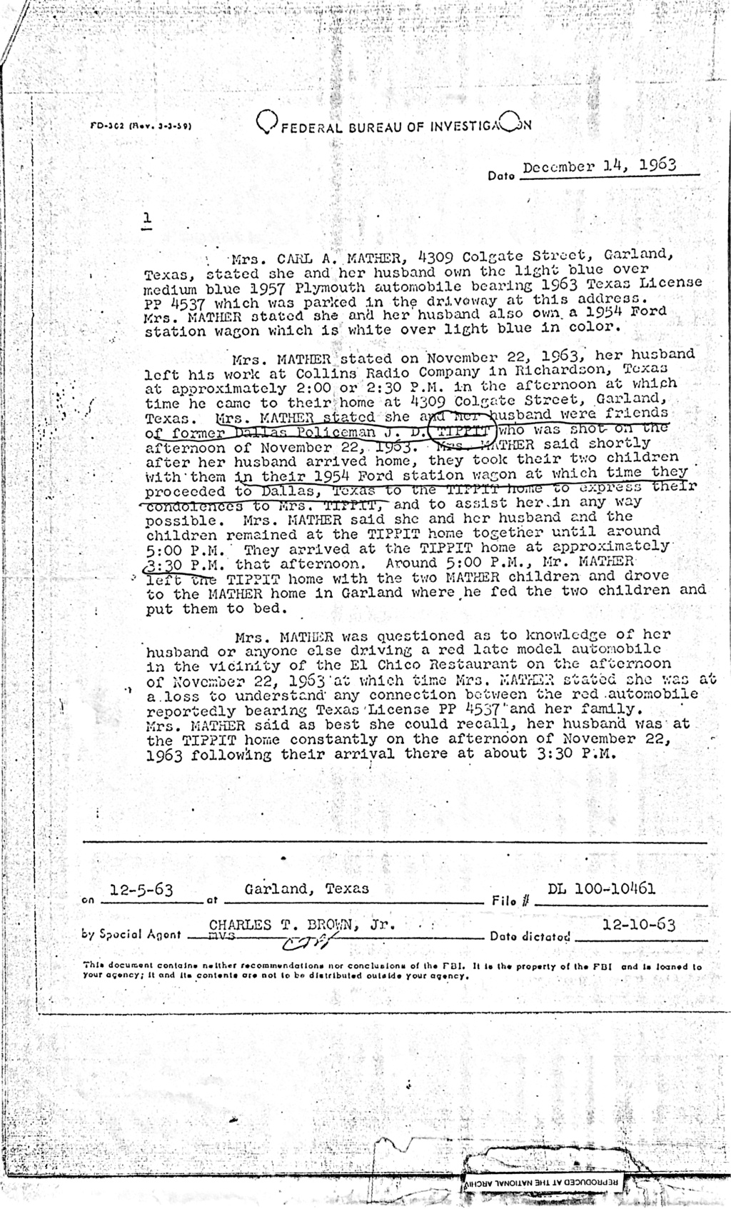 Tippit Murder - who what why and when. - Page 2 C898db10