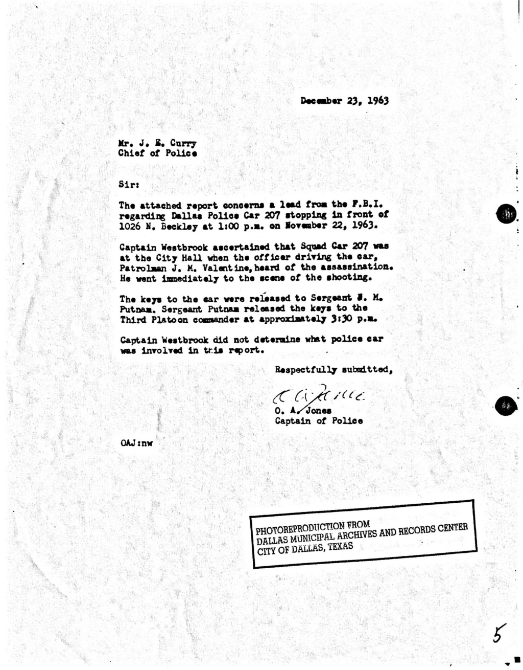 Did Oswald deny living at 1026 N Beckley?  - Page 7 Car_2010