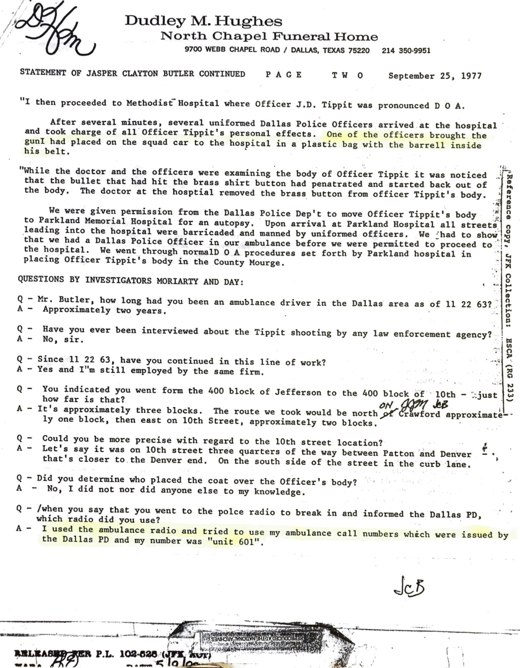 Tippit Murder - who what why and when. - Page 2 E5bbe510