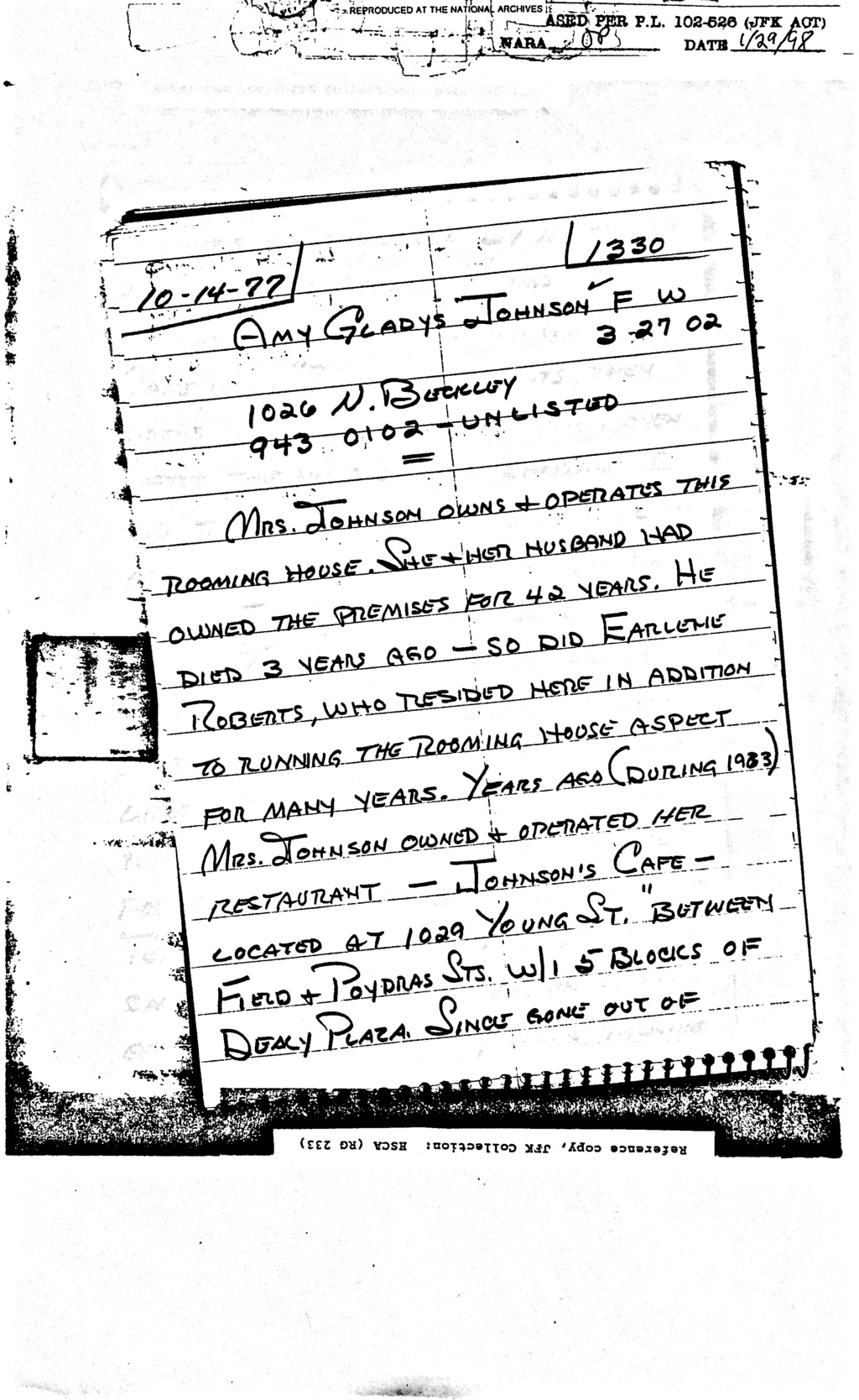 Did Oswald deny living at 1026 N Beckley?  - Page 6 Feb_8_10