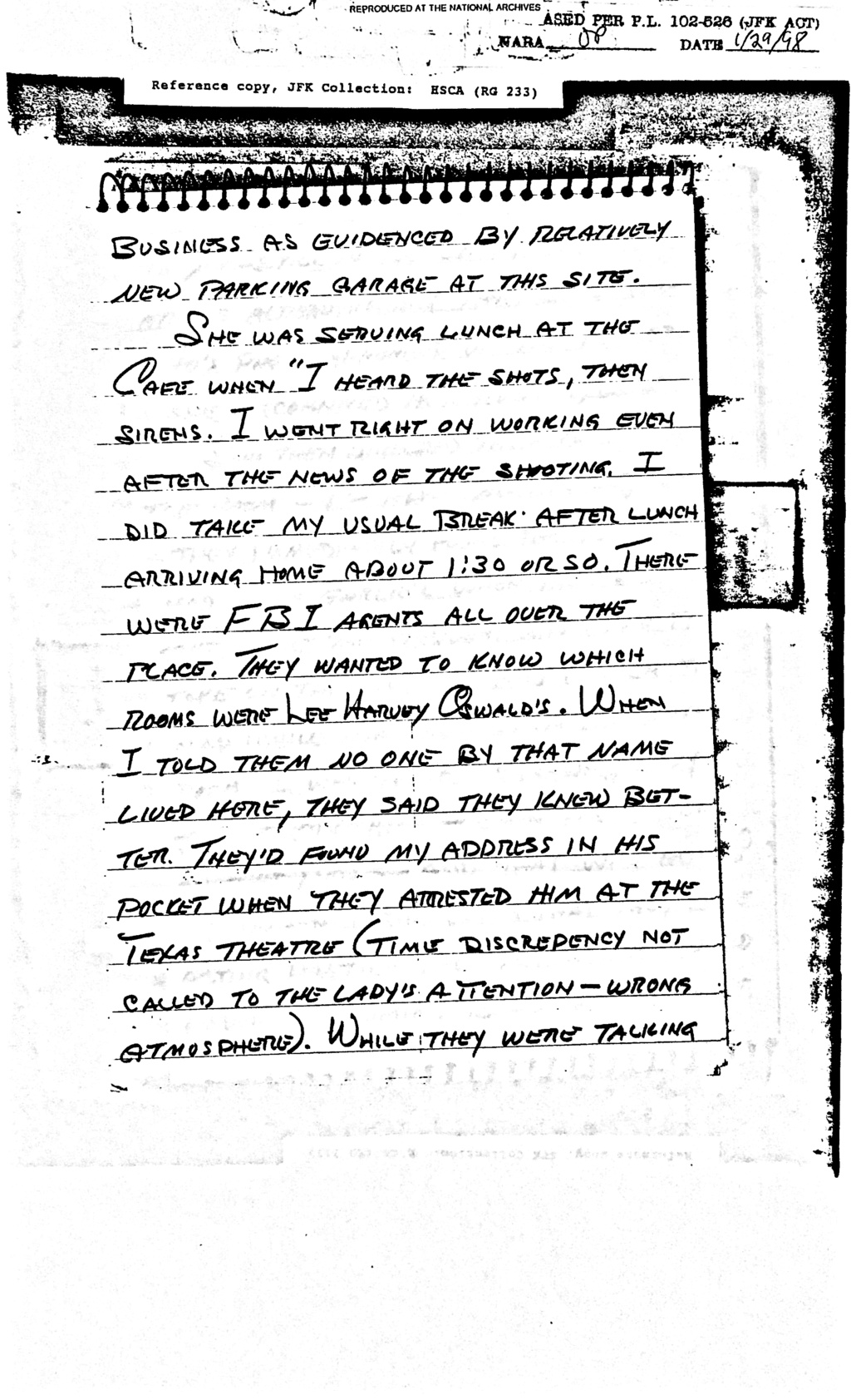 Did Oswald deny living at 1026 N Beckley?  - Page 6 Feb_8_11