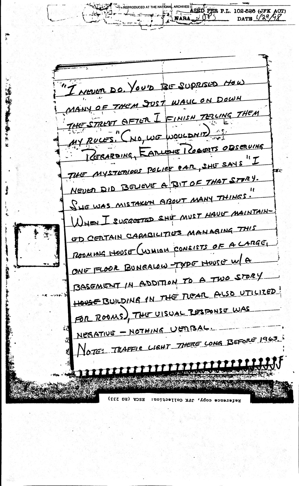 Did Oswald deny living at 1026 N Beckley?  - Page 6 Feb_8_16