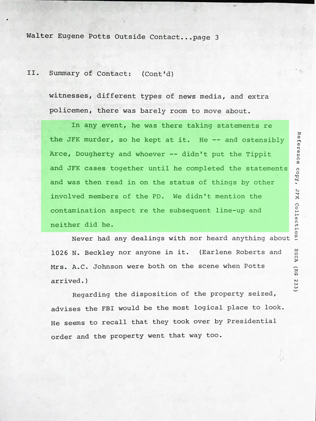 Did Oswald deny living at 1026 N Beckley?  - Page 3 Img_7921