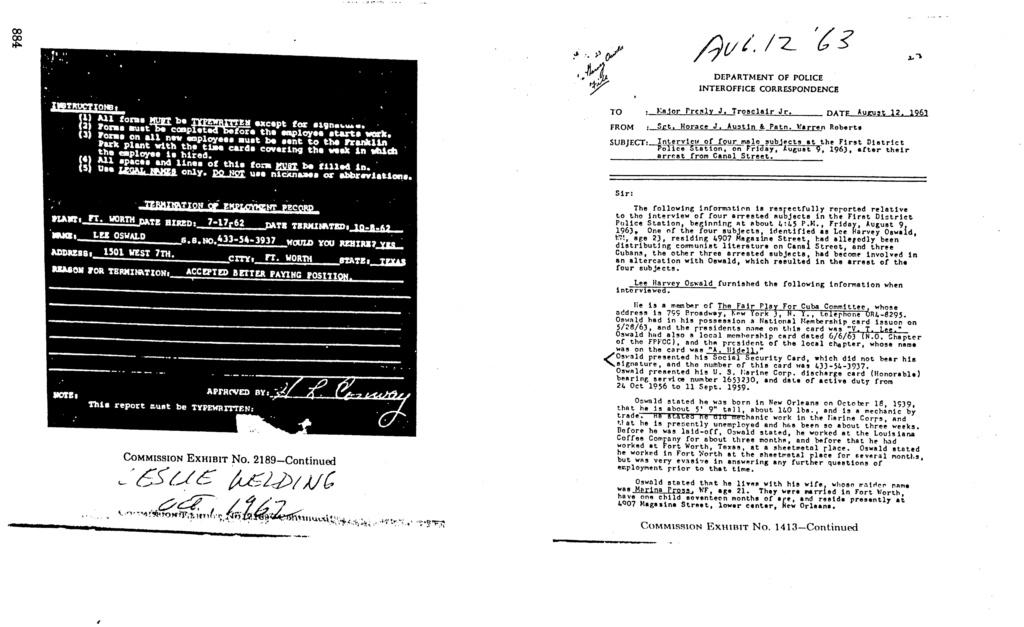 Lee Harvey Oswald Social Security No. Jun_1115