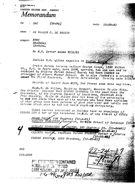 Was the FPCC CIA operation under the direction of Richard Thomas Gibson? Jun_8_10