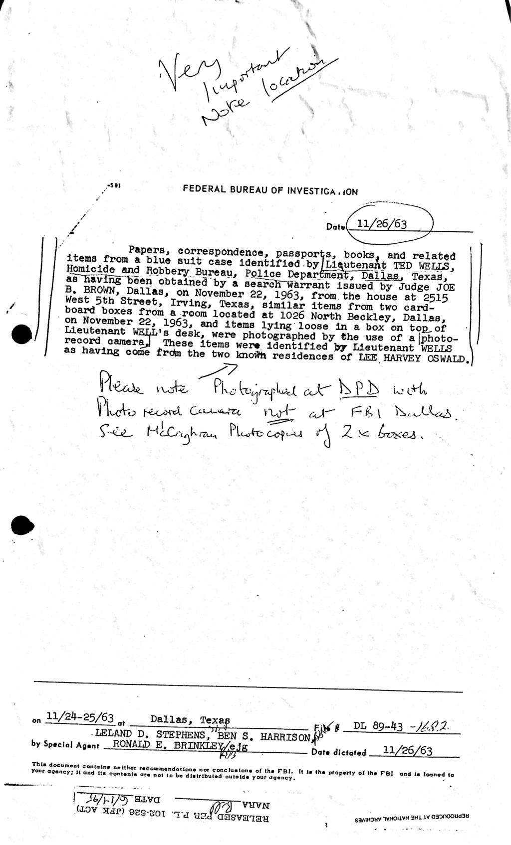 Did Oswald deny living at 1026 N Beckley?  - Page 6 Oswald13