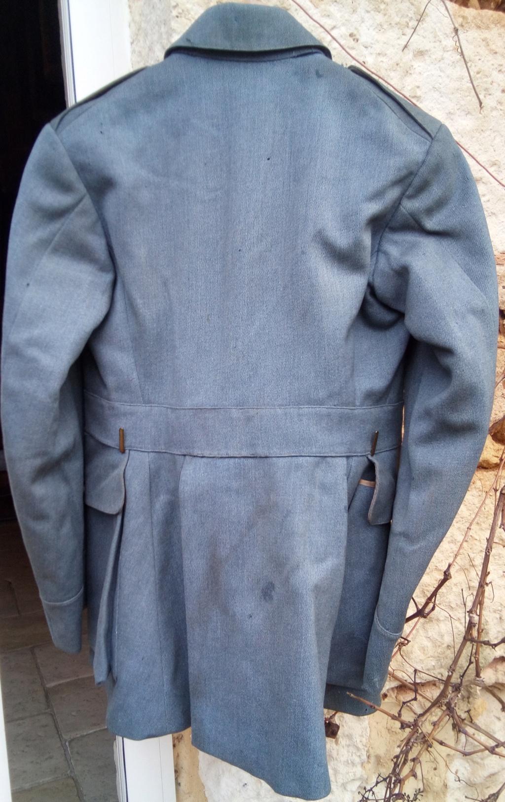 Brocante pluvieuse....Vareuse BH capitaine du 218 RAC, Brotbeutel regimenté Img_2625