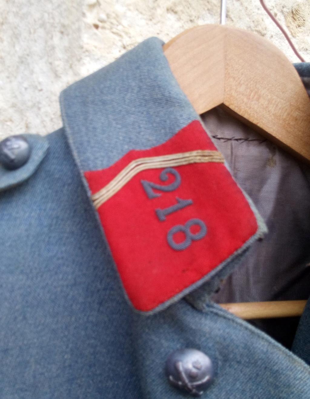 Brocante pluvieuse....Vareuse BH capitaine du 218 RAC, Brotbeutel regimenté Img_2627