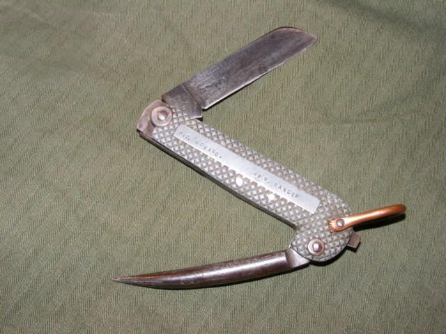 """Les """"jack knives"""", couteaux pliants du Tommy Post-110"""