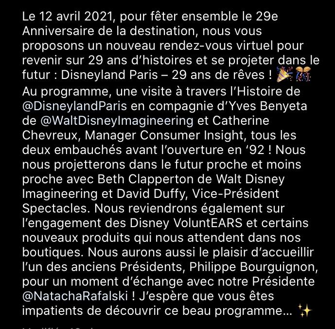 Disneyland Paris : 29 Ans de Rêves [Disneyland Paris - 2021] 18ddf810