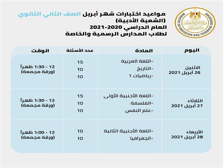 مجمعة وتستمر 3 أيام.. وزير التعليم يحسم الجدل بشأن موعد امتحانات أبريل لسنوات النقل 127