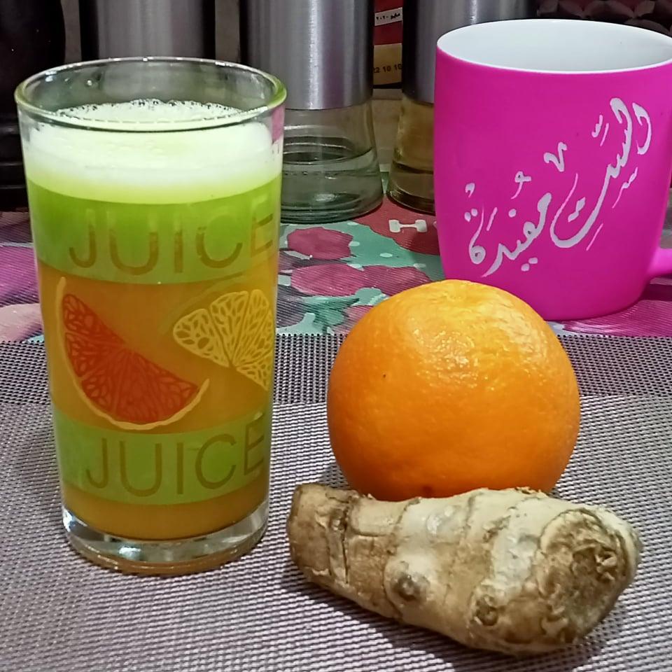 عصير البرتقال بالزنجبيل لنزلات البرد والتهاب المفاصل 15132510