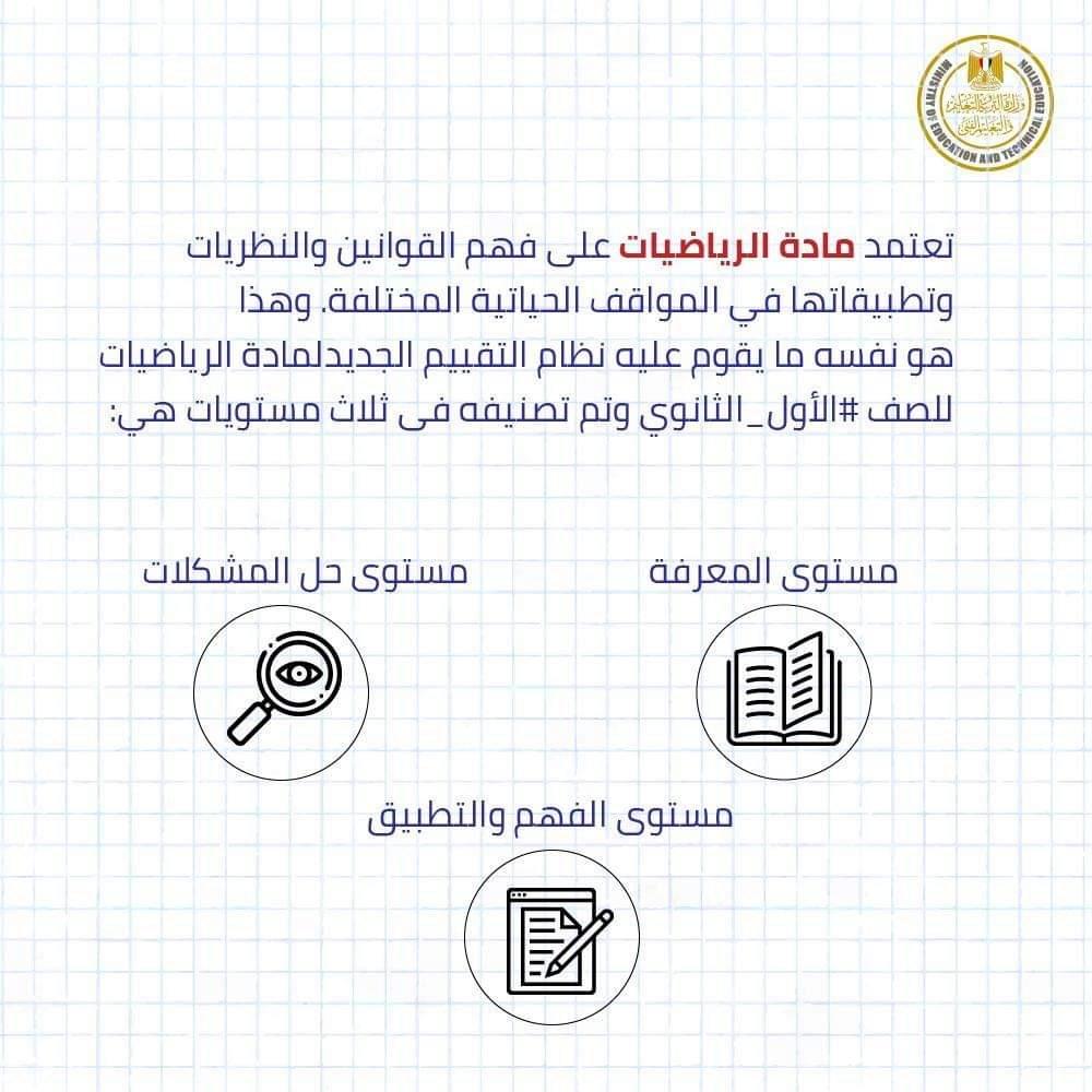 وزير التعليم يعلن توفير أمثلة استرشادية فى مادة الرياضيات لأولى ثانوى 90640-10