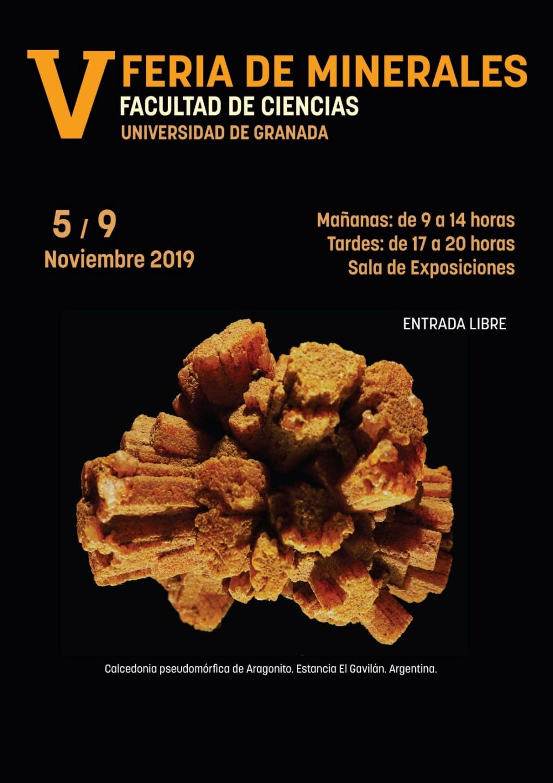 V FERIA DE MINERALES FACULTAD DE CIENCIAS UNIVERSIDAD DE GRANADA - 2018 6711b010