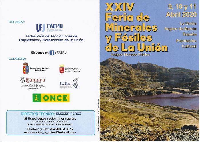 XXIV FERIA DE MINERALES DE LA UNION - 2020 Xxiv-f11