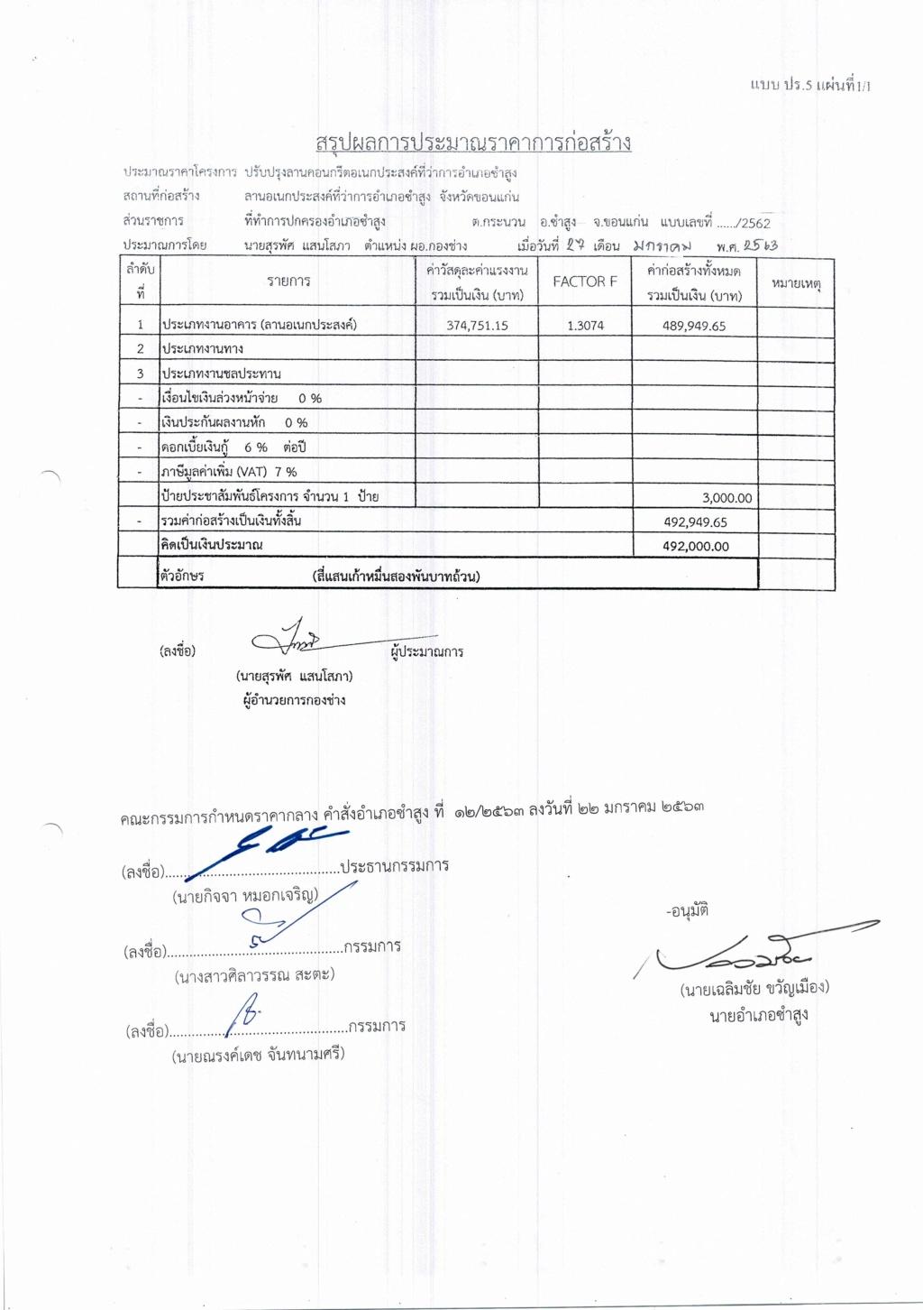 โครงการก่อสร้างลานอเนกประสงค์ที่ว่าการอำเภอซำสูง จังหวัดขอนแก่น ประจำปีงบประมาณ 2563  Cci_0035