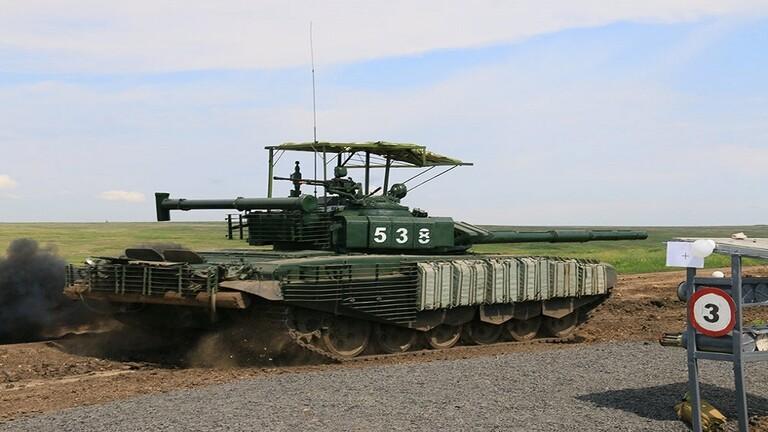 """دبابة """"تي 72"""" تزوّد بقبعة مضادة للصواريخ 60d02910"""
