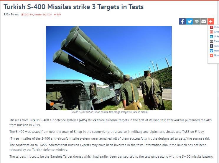 """مريكا تحذر تركيا من """"تبعات وخيمة محتملة"""" لاختبار صواريخ إس 400 Screen16"""
