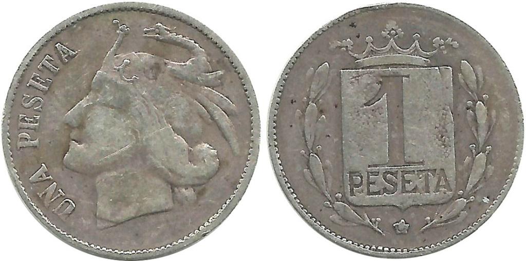 Una peseta; ¿acuñación local período Guerra Civil Española? 165_ca10