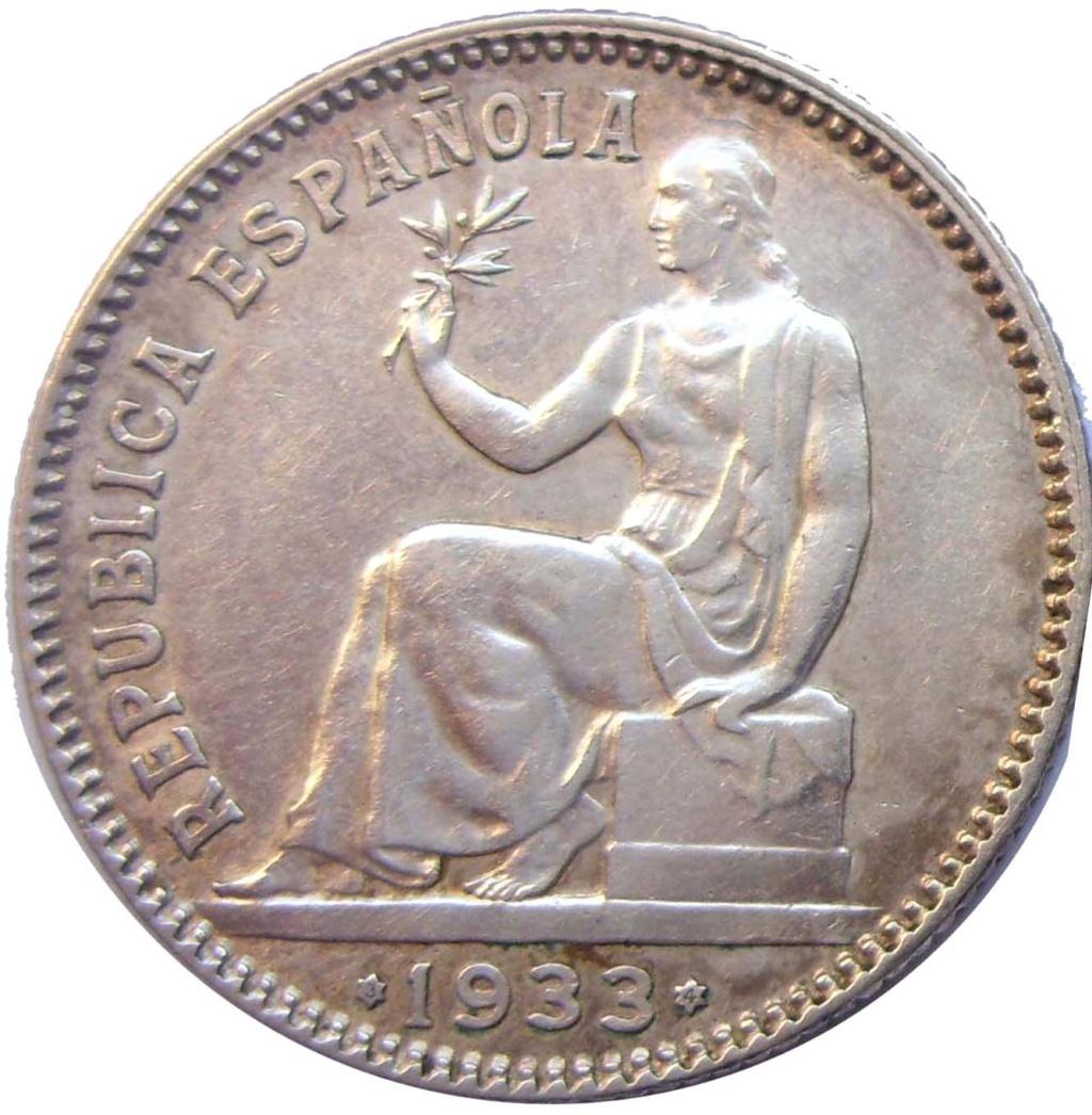 1 Peseta 1933 (*3-4). II República 1_111