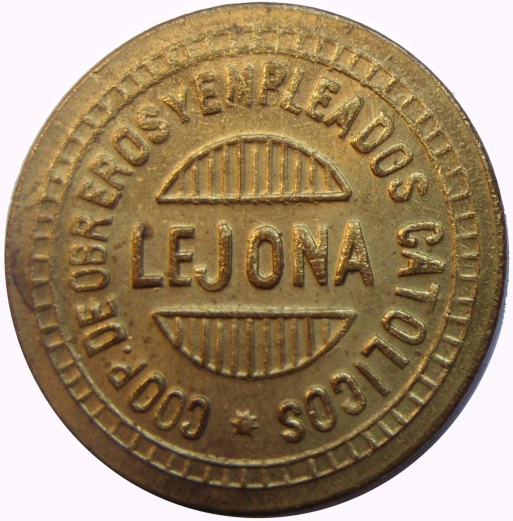 1 peseta. Lejona. Cooperativa obreros y empleados católicos. 7_110