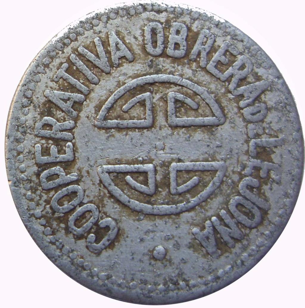 1 peseta. Lejona. Cooperativa obreros y empleados católicos. 8_110