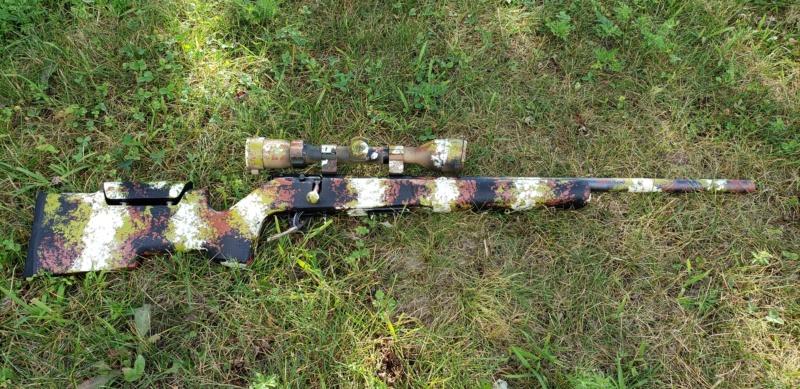 Carabine peinte à l'éponge 20190812