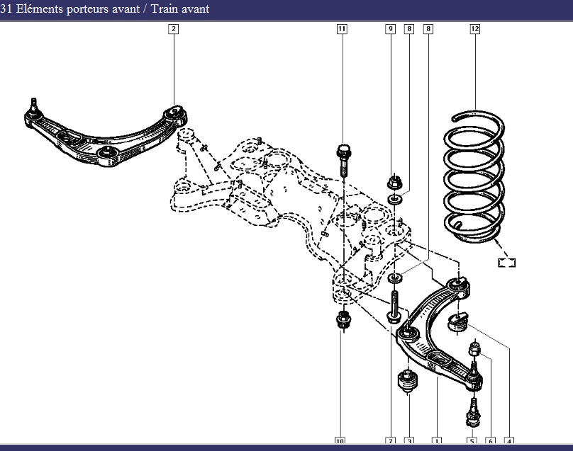 référence renault triangle suspension Saf10