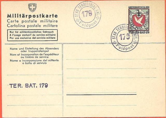 Feldpost-Militärpostkarten Ganzsache? Basler10