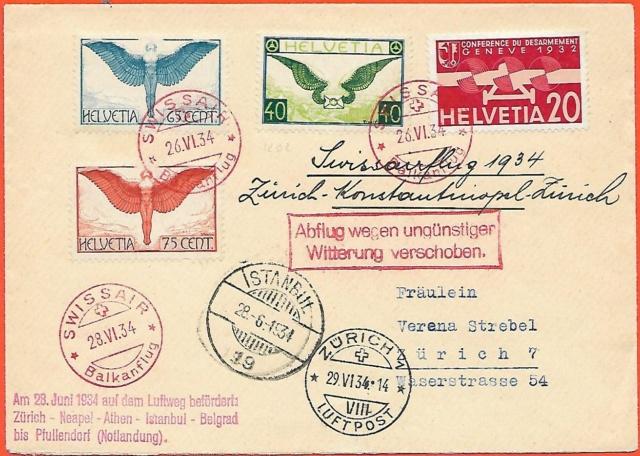 Swissair-Balkan-Rundflug mit Hindernissen 1934 Unfall10