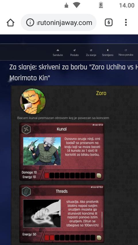 Odbegli cunin Zoro Uchiha vs Hokagea Morimoto Kin Screen14