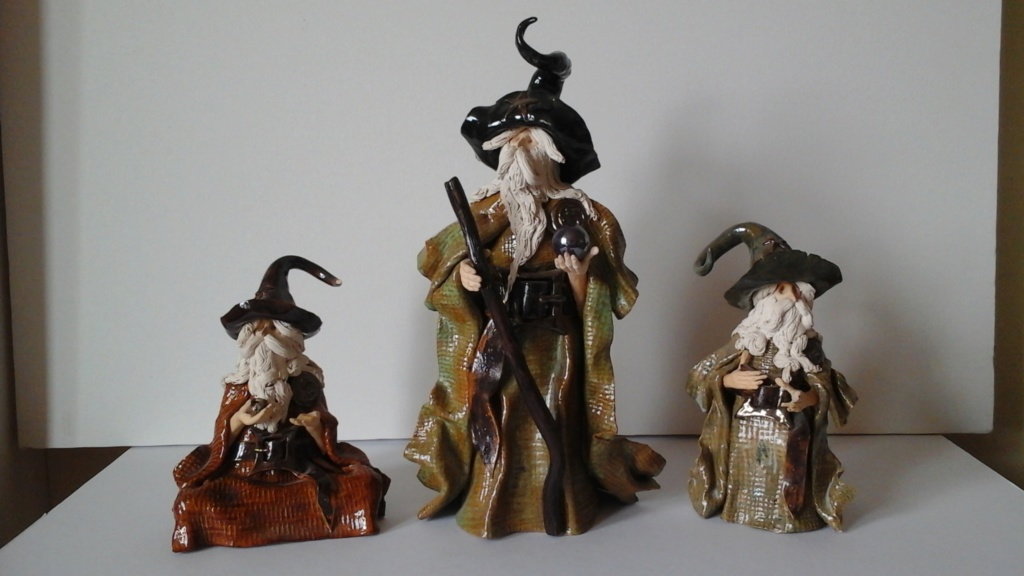 Wizard figurines - help to id please. Possibly Clare Craft/ Bernard Pearson 20180713