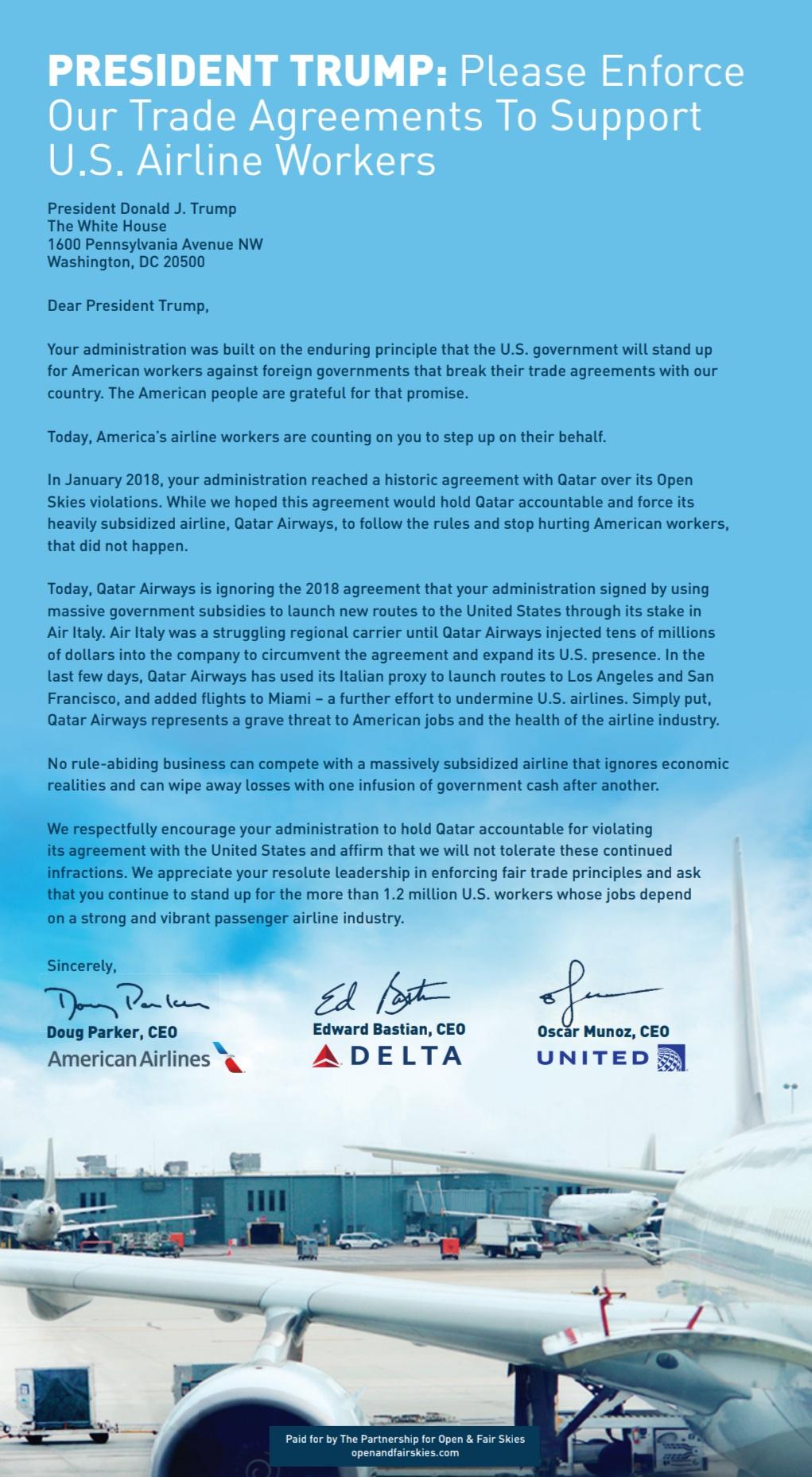 Delta risponde a Qatar Airways  Screen16
