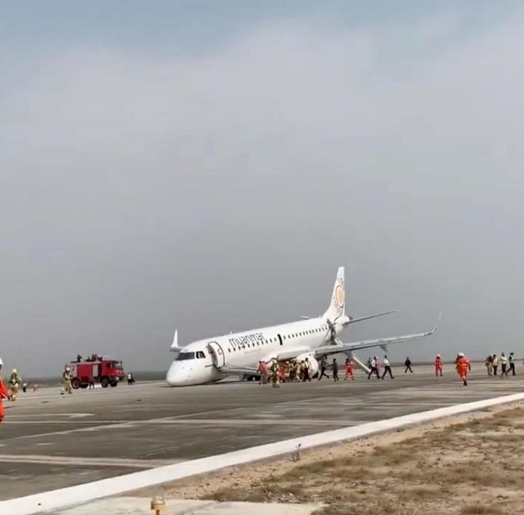 Atterraggio d'emergenza all'aeroporto di Yangon Screen24